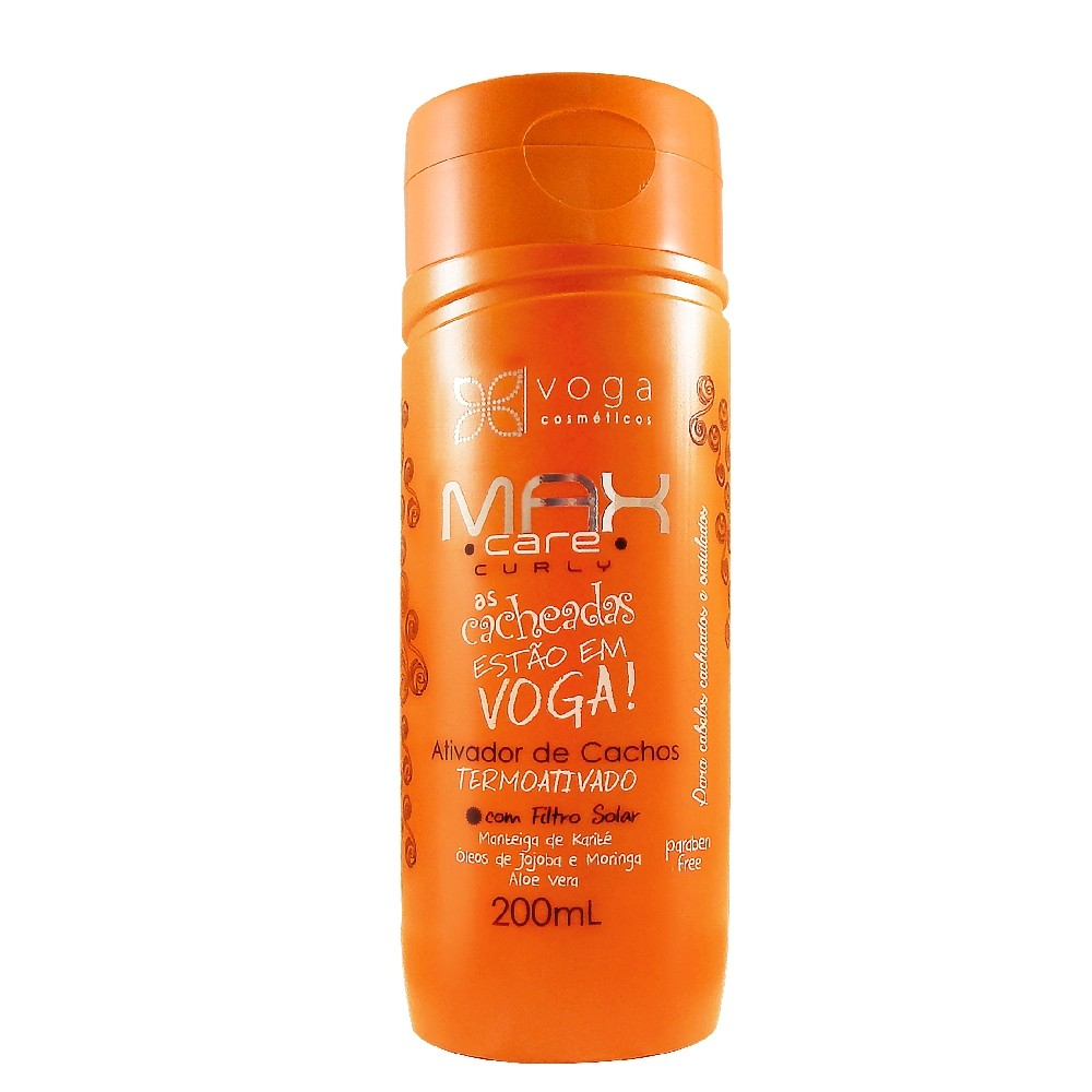 Ativador De Cachos Voga Max Care Curly 200ml