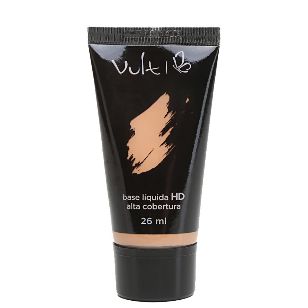 Base Liquida HD Vult MakeUp R20 Minimiza Linha de Expressão
