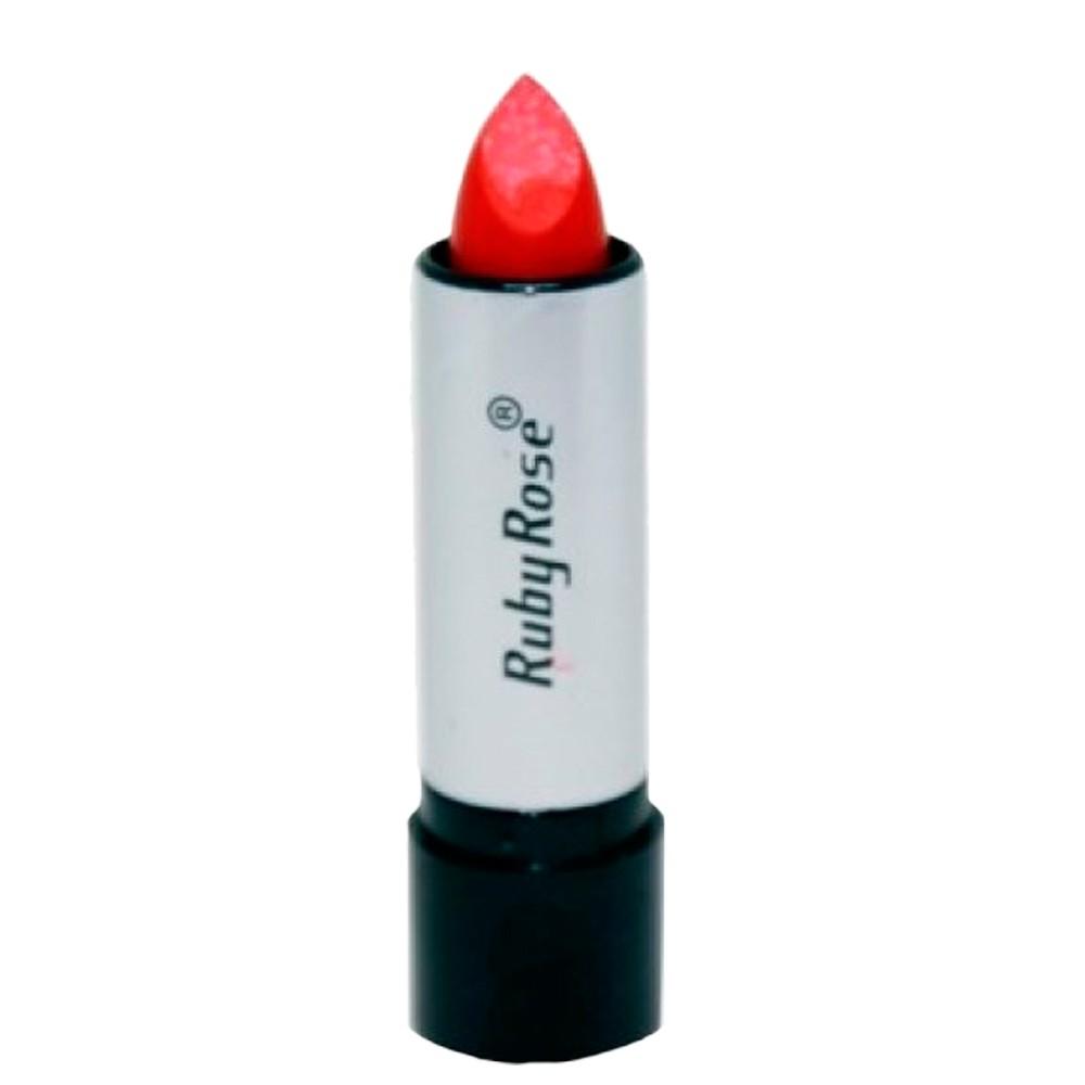 Batom Matte Ruby Rose Vermelho Vivo 01 Lábios Destacados