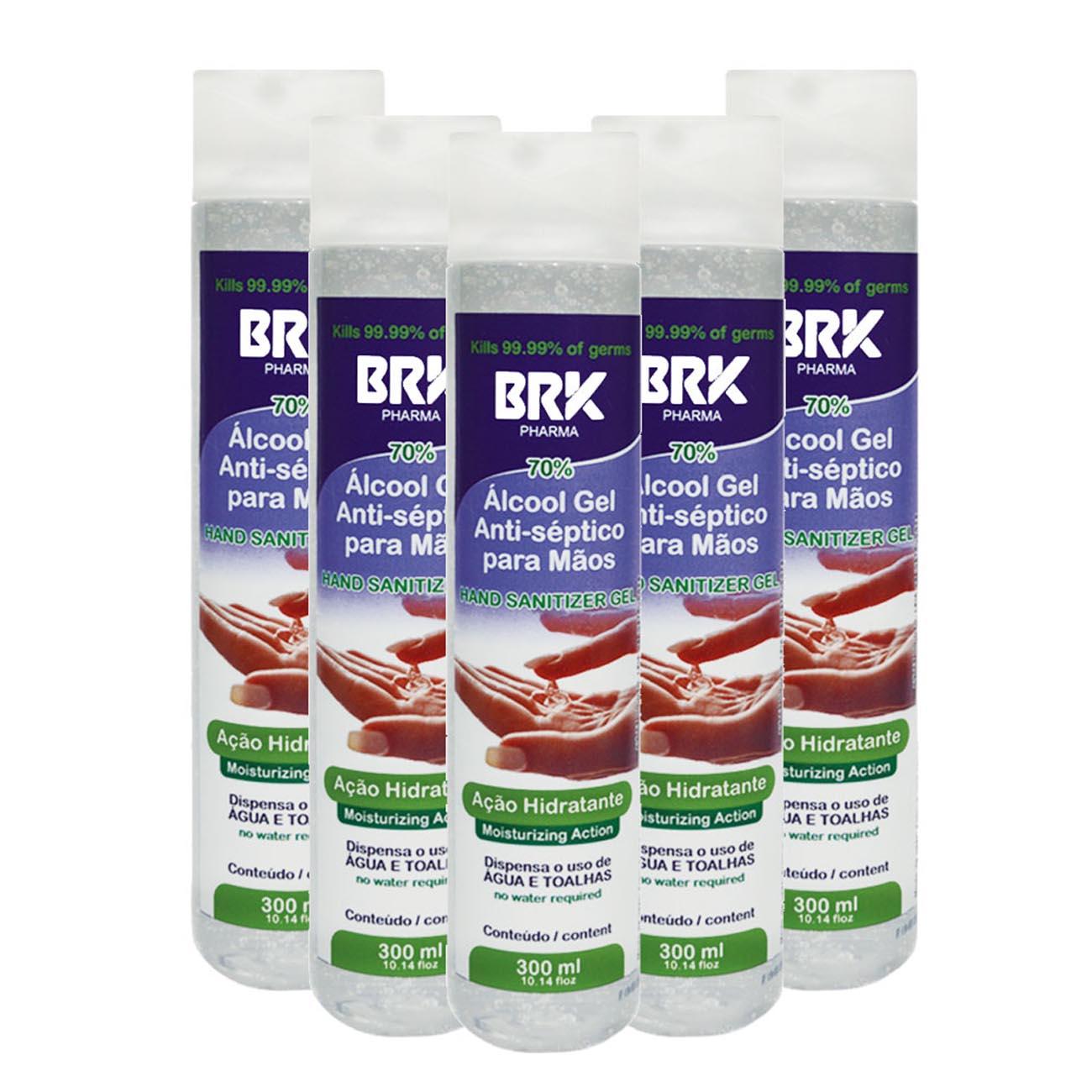 BRK Pharma Kit 5 UN Hidratante Gel para Mãos