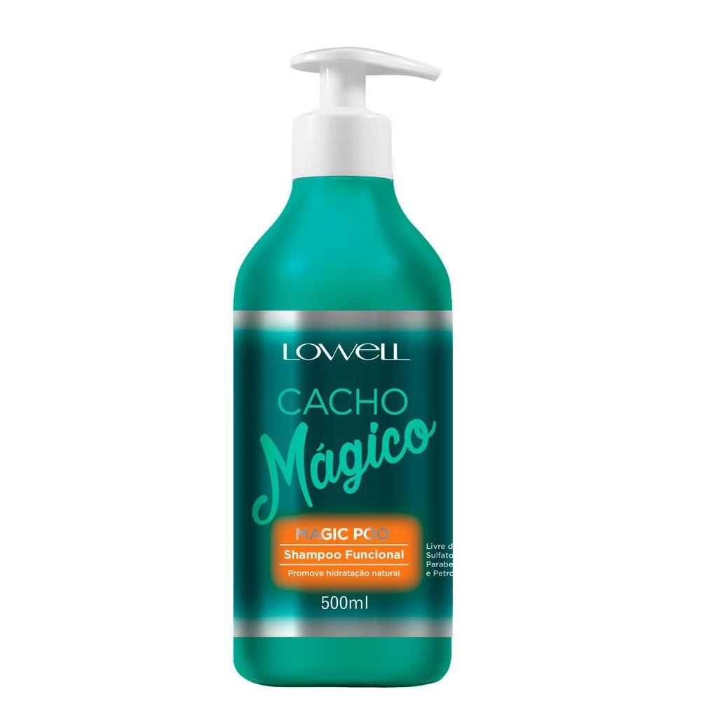 Cacho Mágico Lowell Shampoo Funcional Limpa Sem Ressecar 500ml