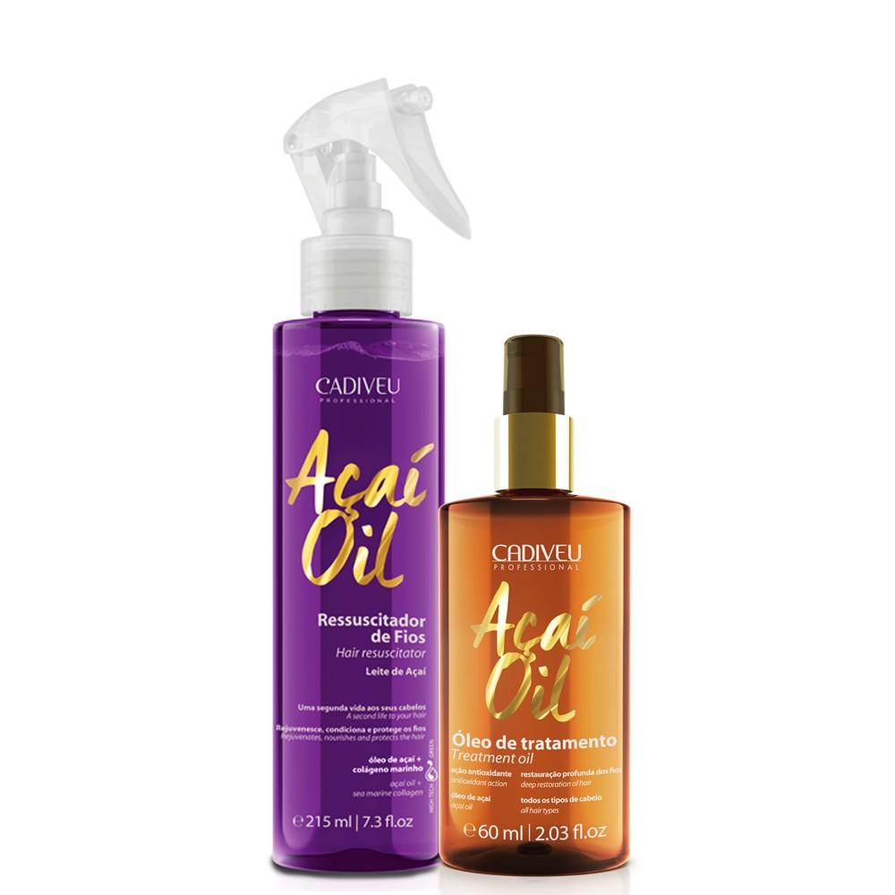 Cadiveu Açaí Oil Kit Leite de Açaí + Óleo de Tratamento
