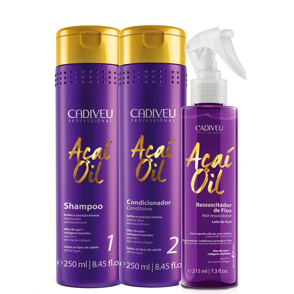 Cadiveu Açaí Oil Kit Tratamento Ressuscitador Dos Fios