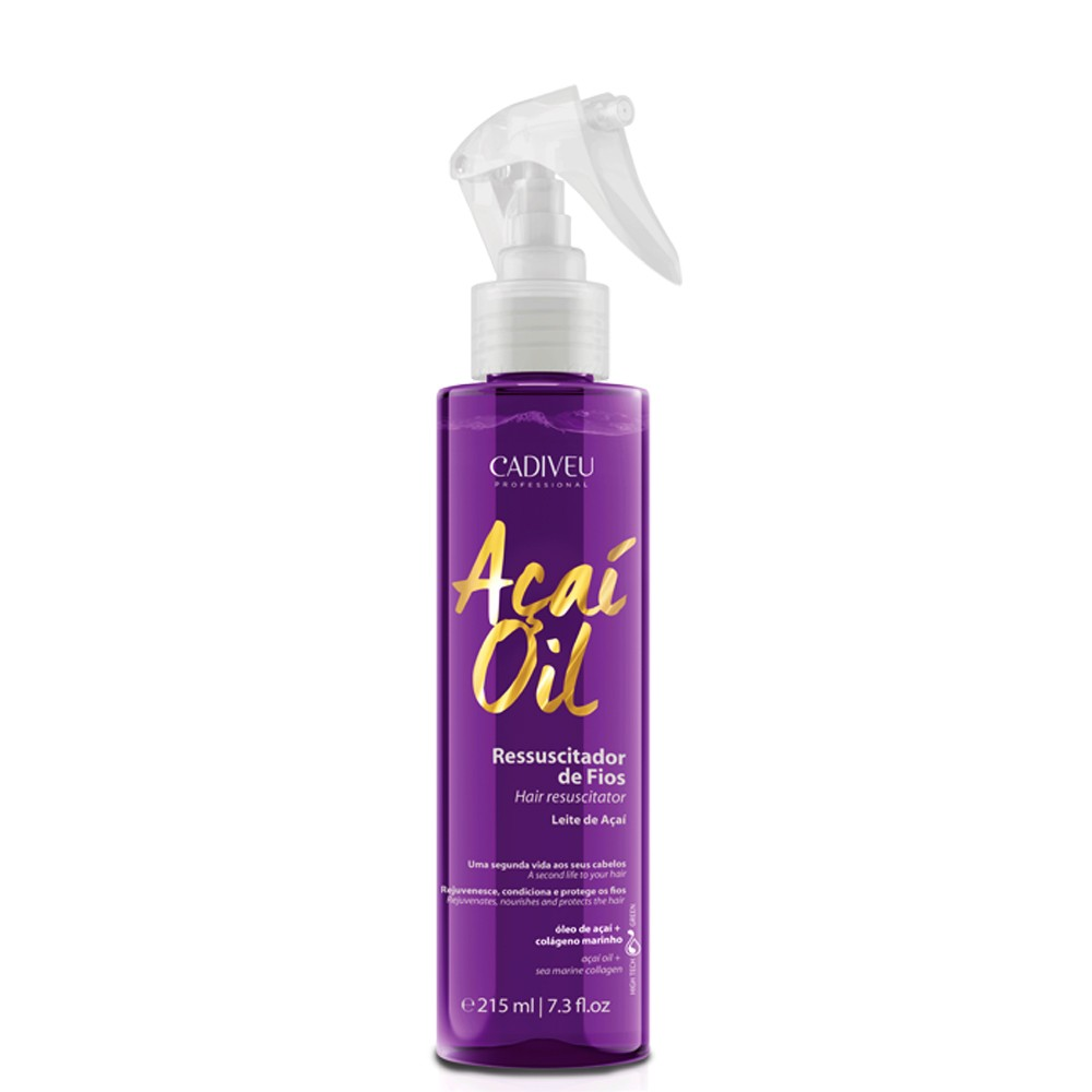 Cadiveu Açaí Oil Leite De Açaí Leave-in Termoativo 3x 200ml