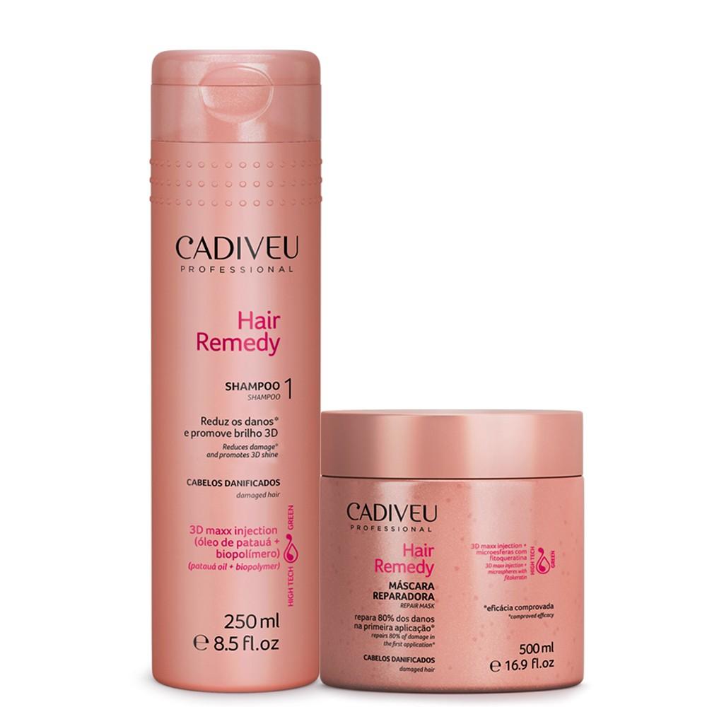 Cadiveu Hair Remedy Kit Máscara Reparadora + Shampoo