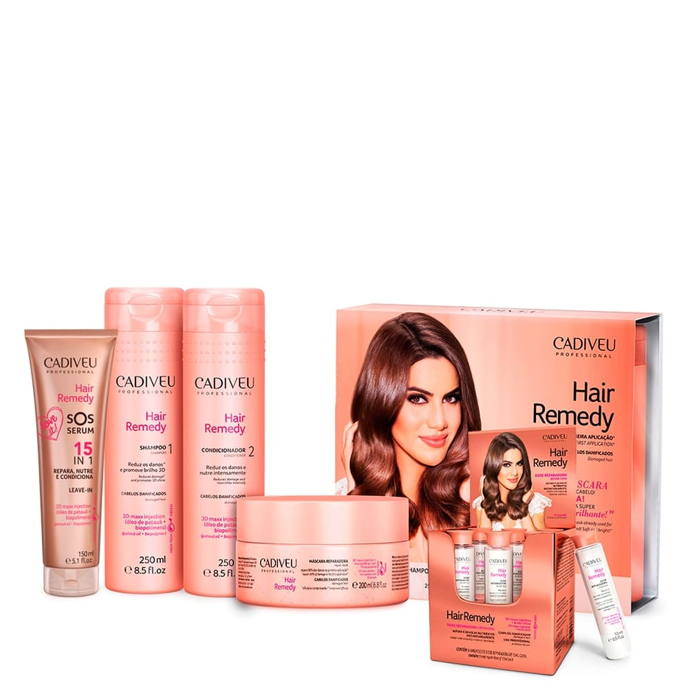 Cadiveu Hair Remedy Kit Tratamento Sérum 5 Produtos