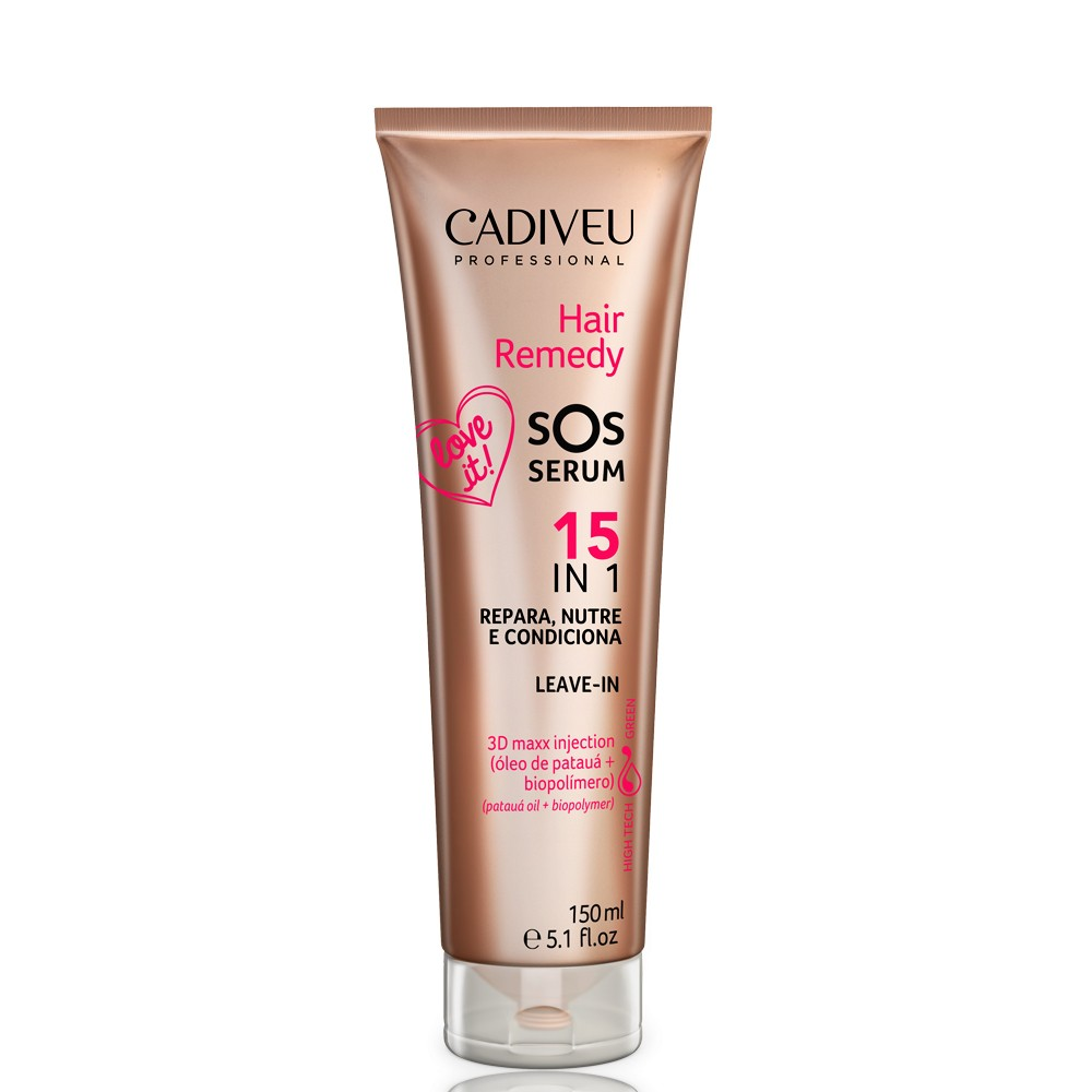 Cadiveu Hair Remedy Shampoo Lavatório 980ml + SOS Sérum 150ml