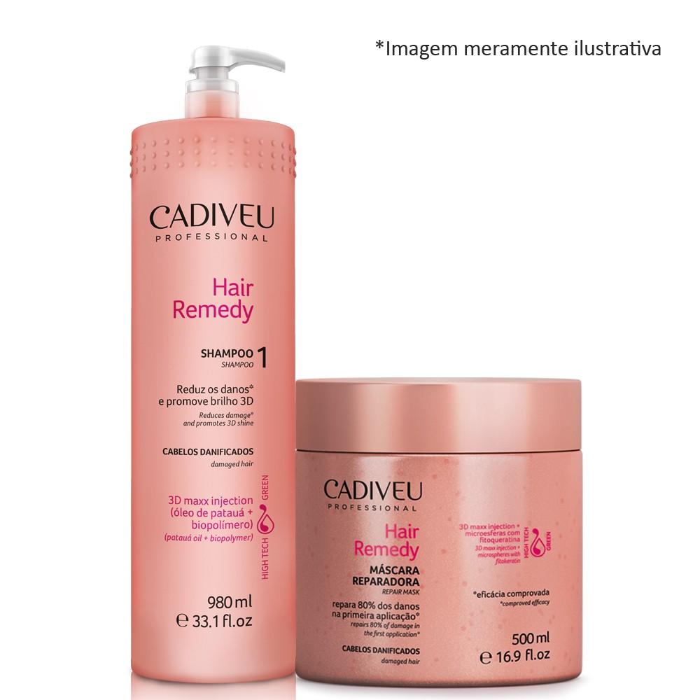 Cadiveu Hair Remedy Shampoo Lavatório + Mascara De 500ml