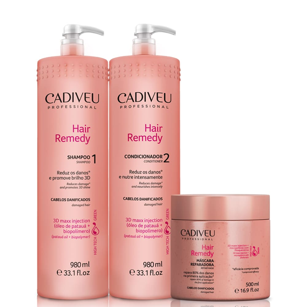 Cadiveu Professional Hair Remedy Kit Tratamento Diário