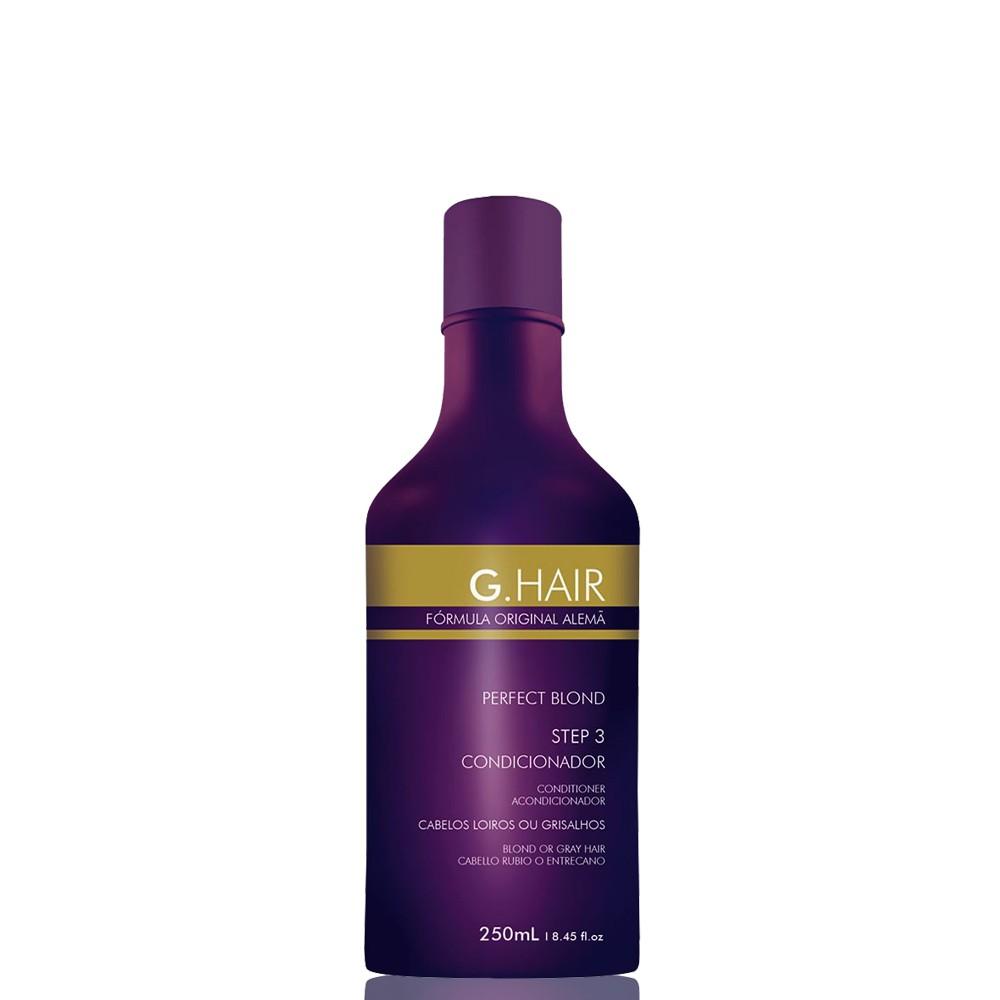G.Hair Escova Alemã Perfect Blond Condicionador 250ml - Passo3