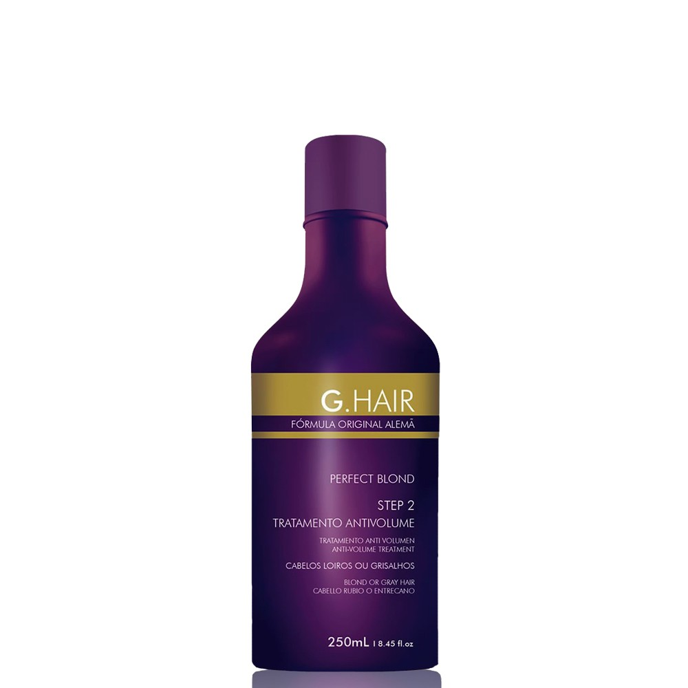 G.Hair Escova Alemã Perfect Blond Tratamento Anti Volume 250ml