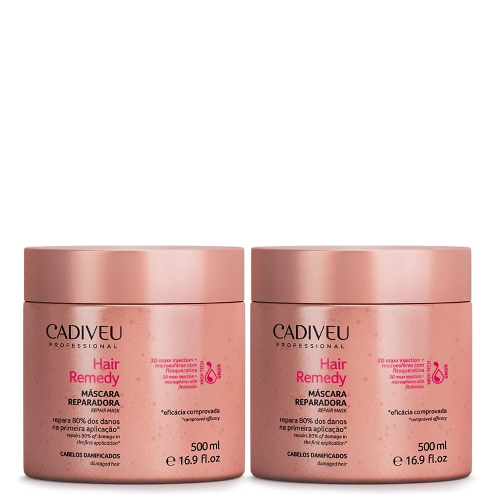 Hair Remedy Cadiveu Máscara Reparadora kit 2x 500ml