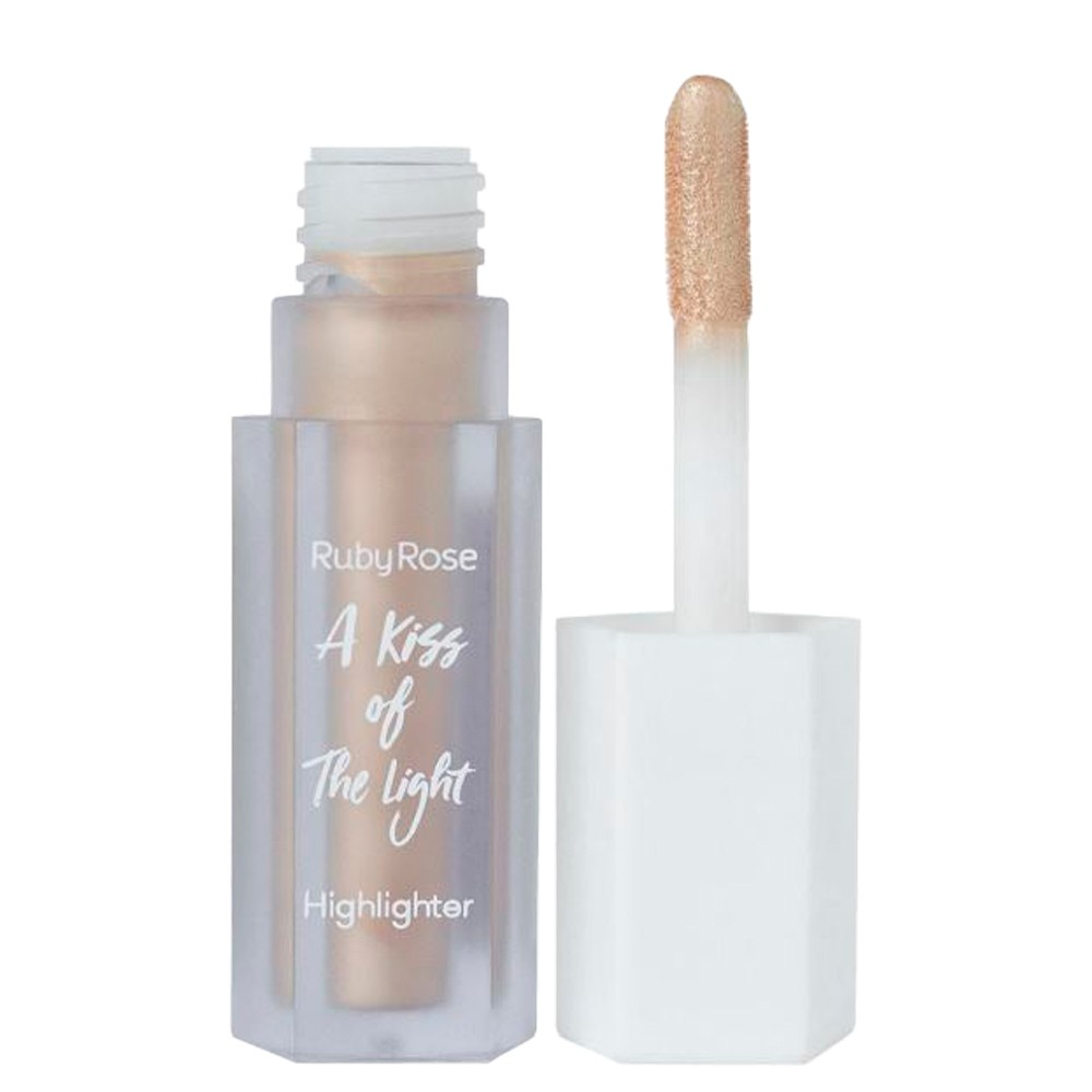 Iluminador Liquido Ruby Rose Kiss Of The Ligth 03 Dourado
