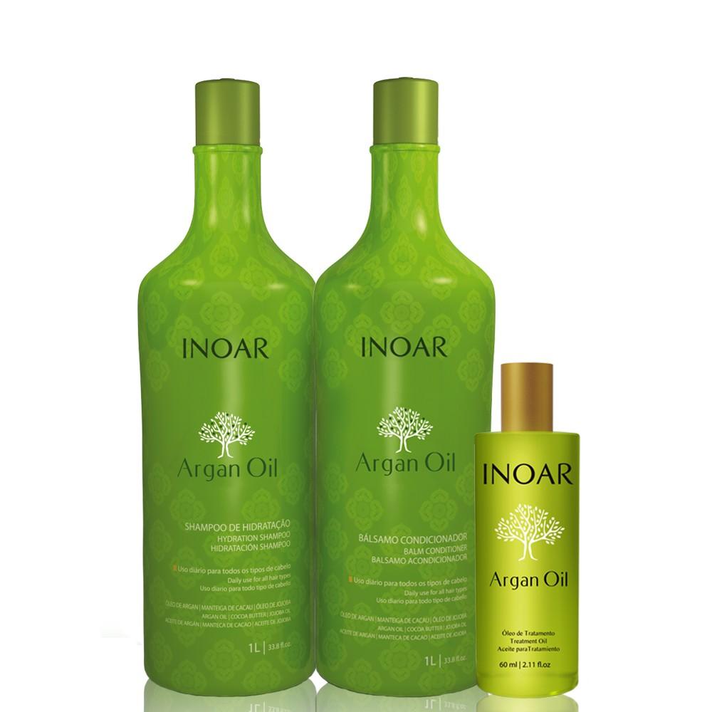 Inoar Argan Oil Kit Sérum (3 Produtos)