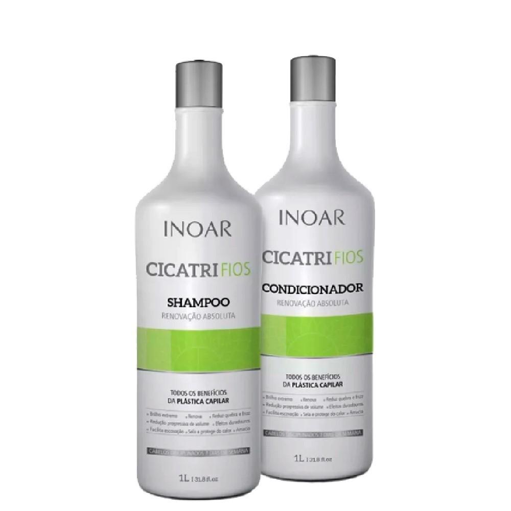 Inoar Cicatri Fios Plástica Capilar Kit Shampoo/Condicionador 2x1L