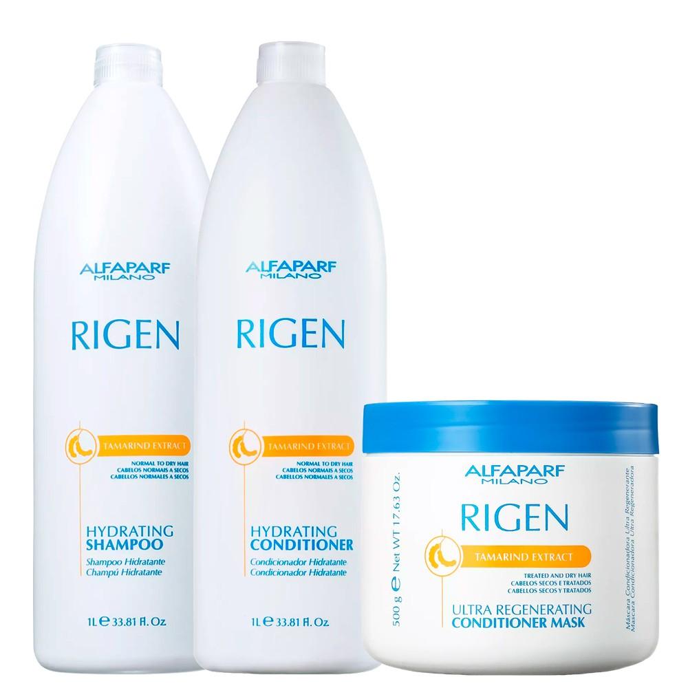 Kit Alfaparf Rigen Hydrating Cabelos Frágil Cuidado Diário
