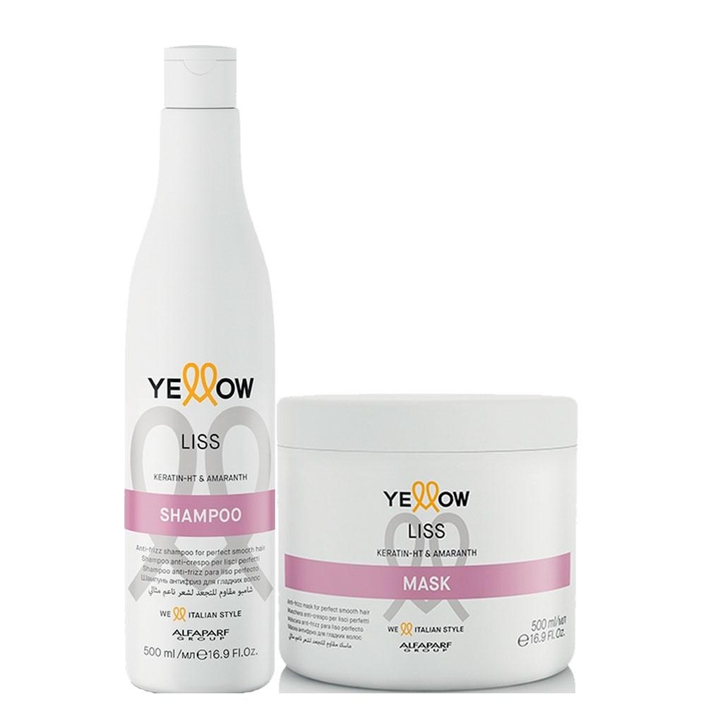 Kit Alfaparf Yellow Liss Shampoo + Máscara Lisos Impecável