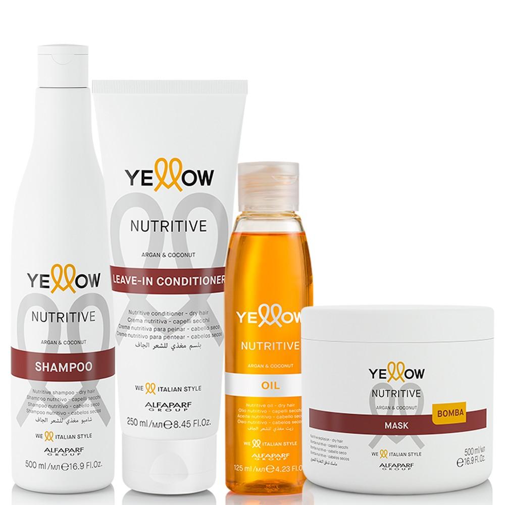 Kit Alfaparf Yellow Nutritive Tratamento Diário Completo