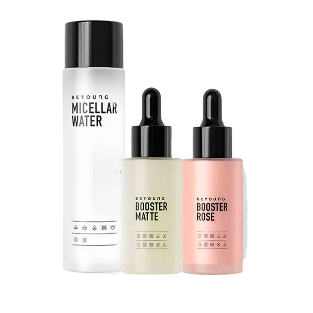 Kit Beyoung Booster 2 Serum Rose/Matte + Micellar Water  200ml