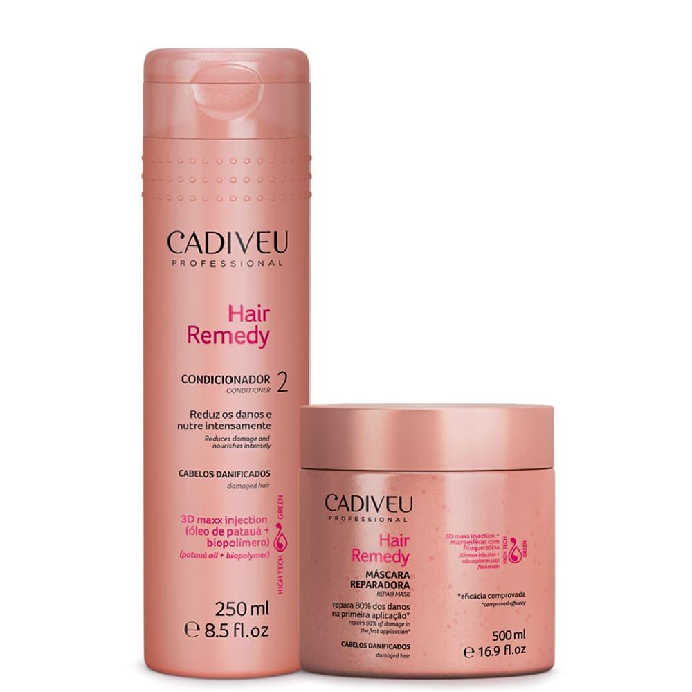 Kit Cadiveu Hair Remedy Condicionador + Máscara Reparadora