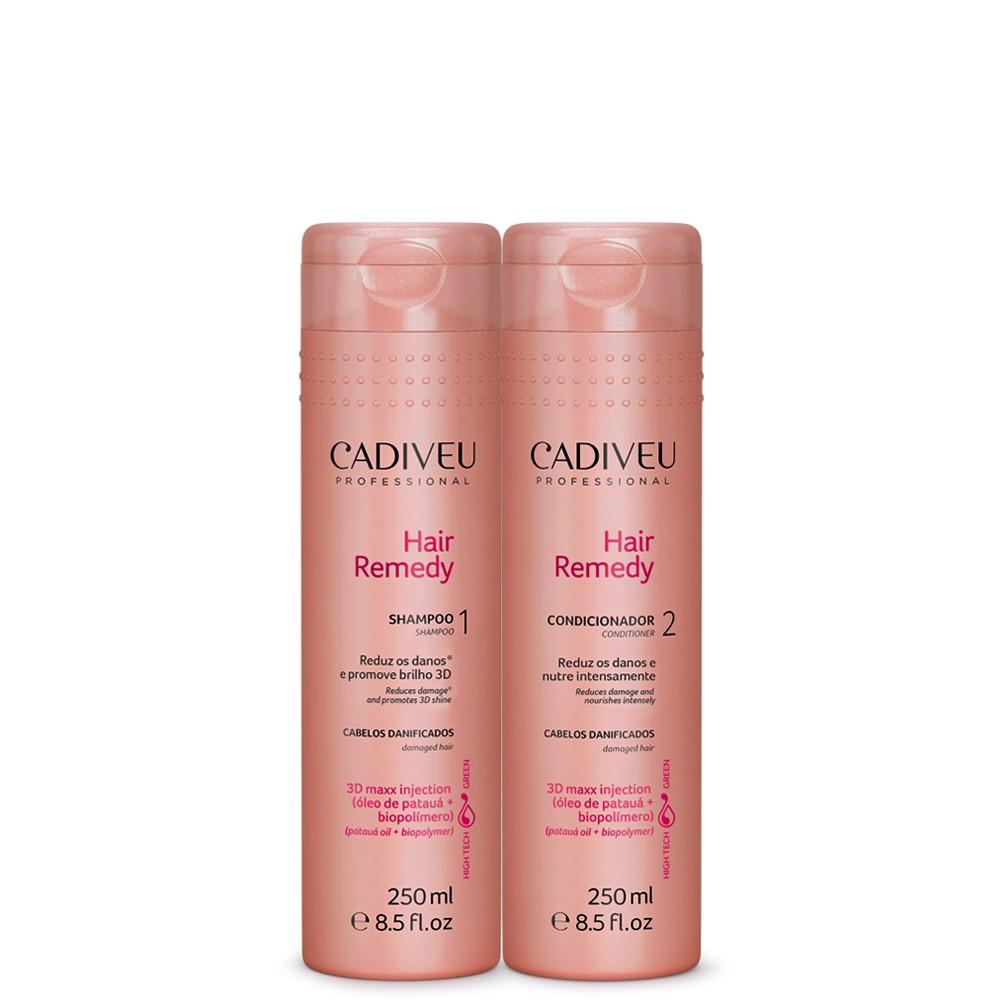 Kit Cadiveu Hair Remedy Shampoo Cond/p/Cabelos Danificados