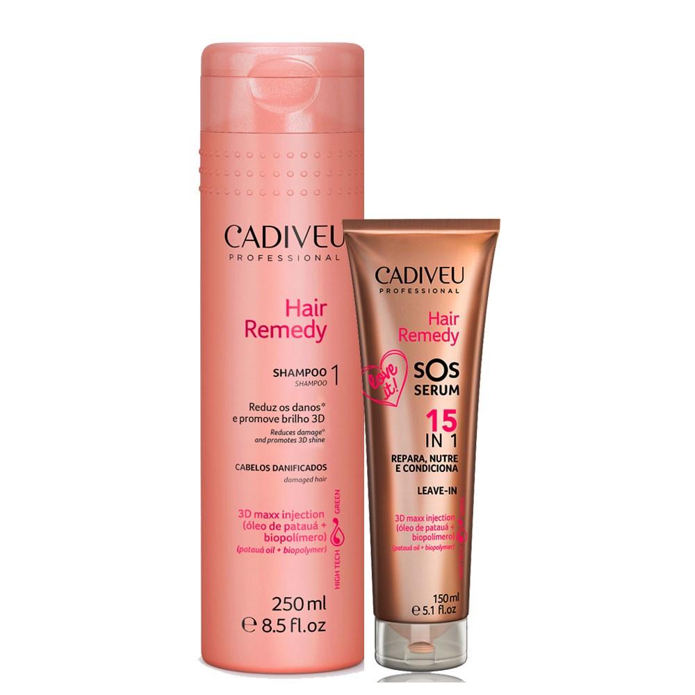Kit Cadiveu Hair Remedy Shampoo + SOS Serum 150ml