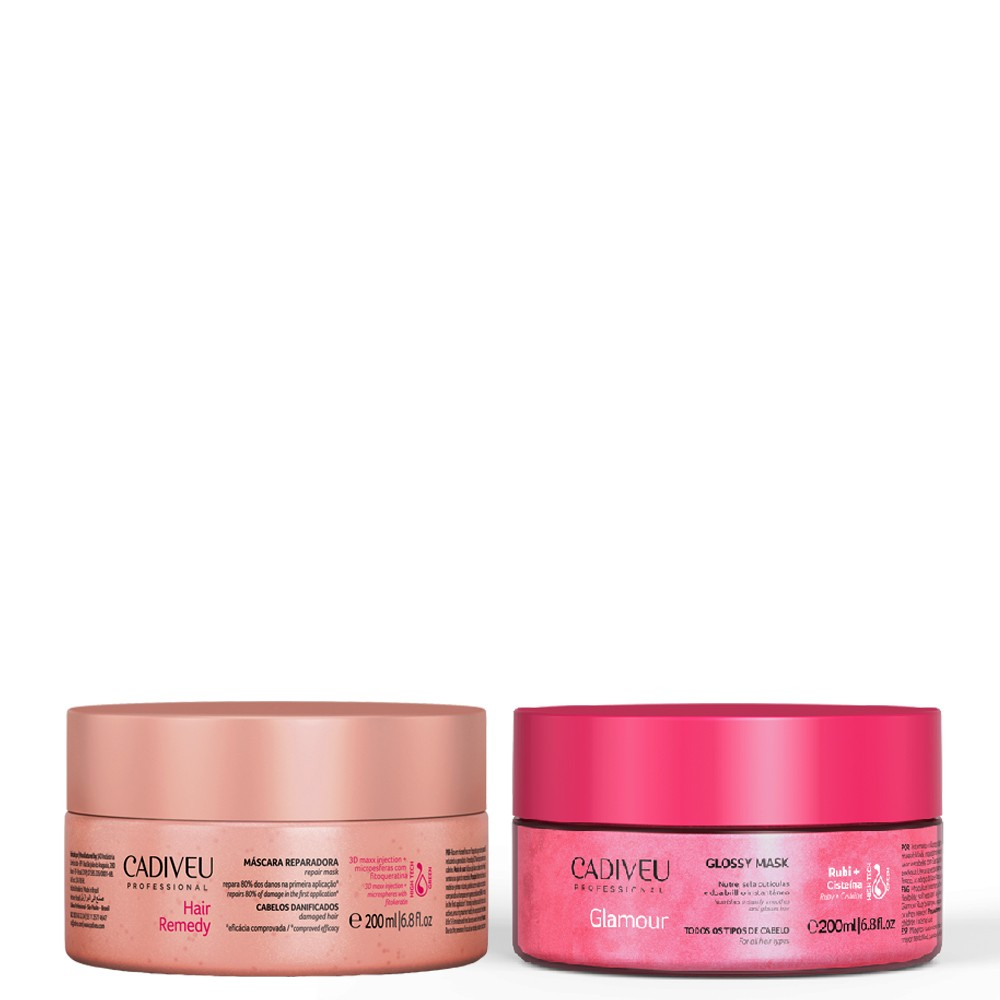 Kit Cadiveu Máscaras Hair Remedy Reparadora + Glossy Mask