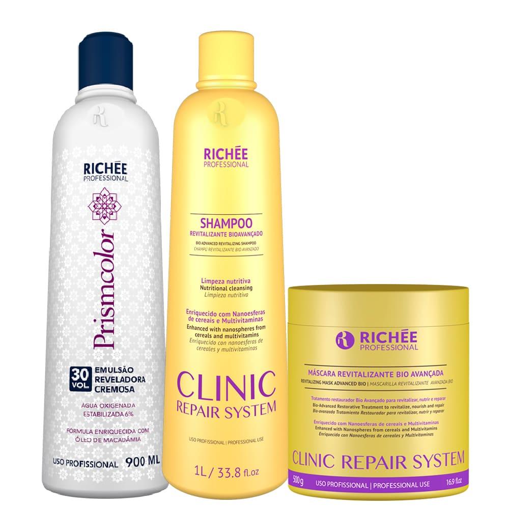 Kit Clinic Repair Shampoo + Máscara + Ox 30 Richée