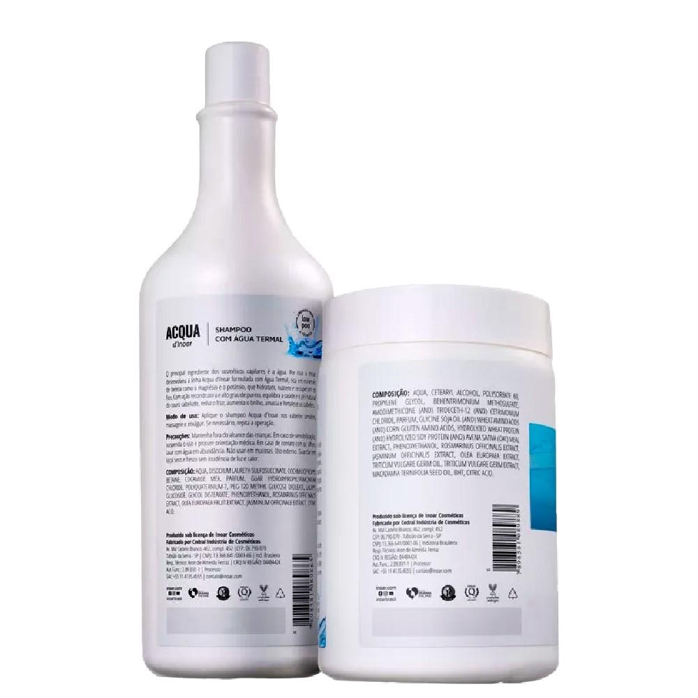 Kit Inoar Acqua Thermal Shampoo + Máscara Hidratante Nutrição