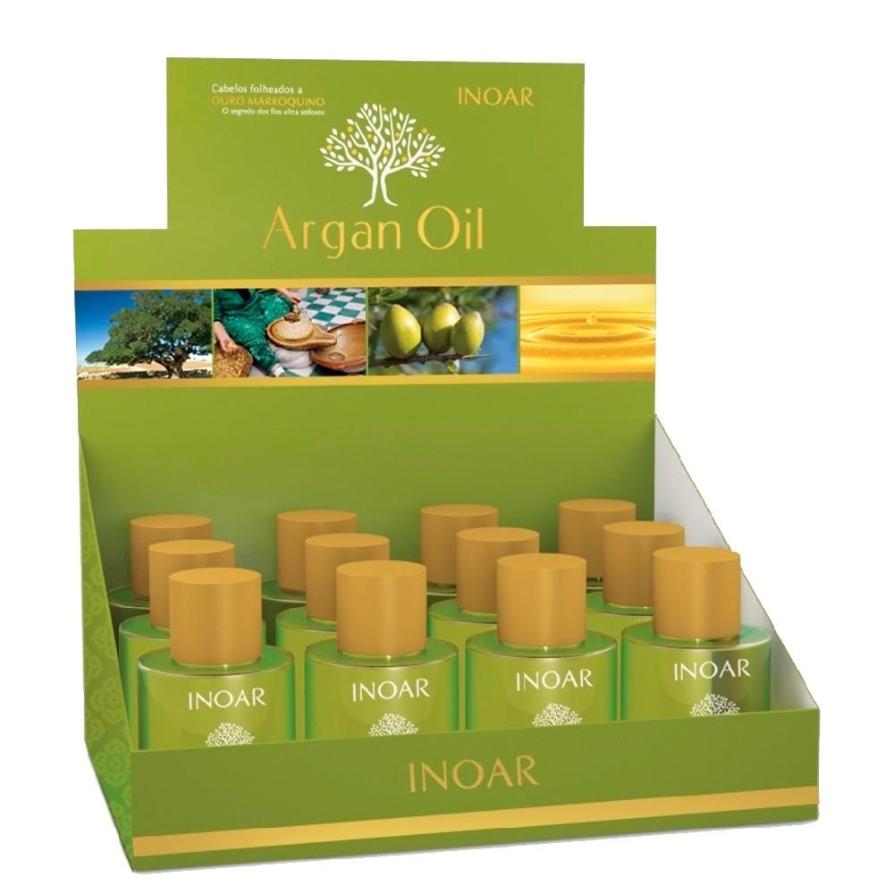 Kit Inoar Óleo Argan Hidrata c/ Ômega 6 Vitamina E CX 12X7ml