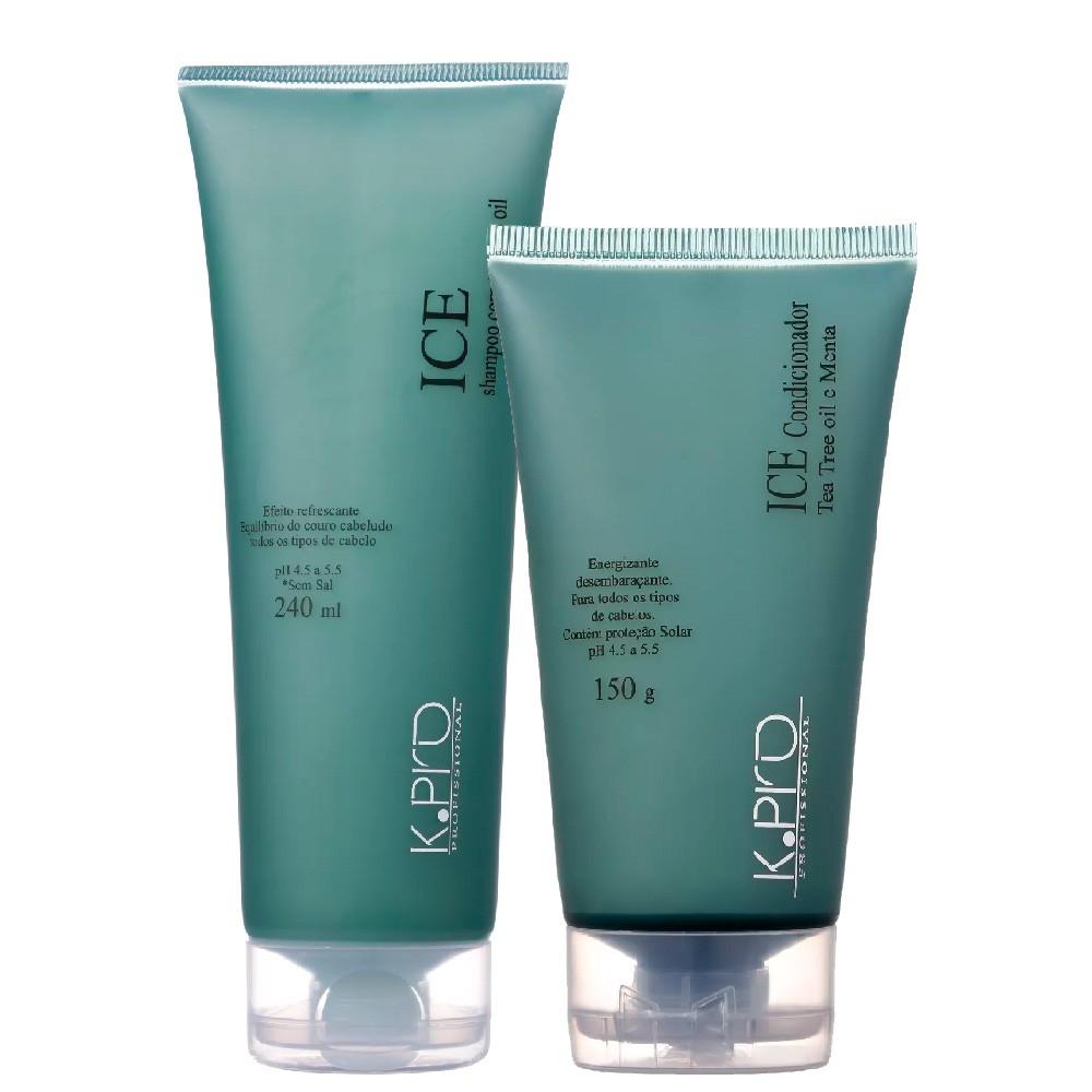 Kit KPro Ice Tea Tree Oil Shampoo e Condicionador