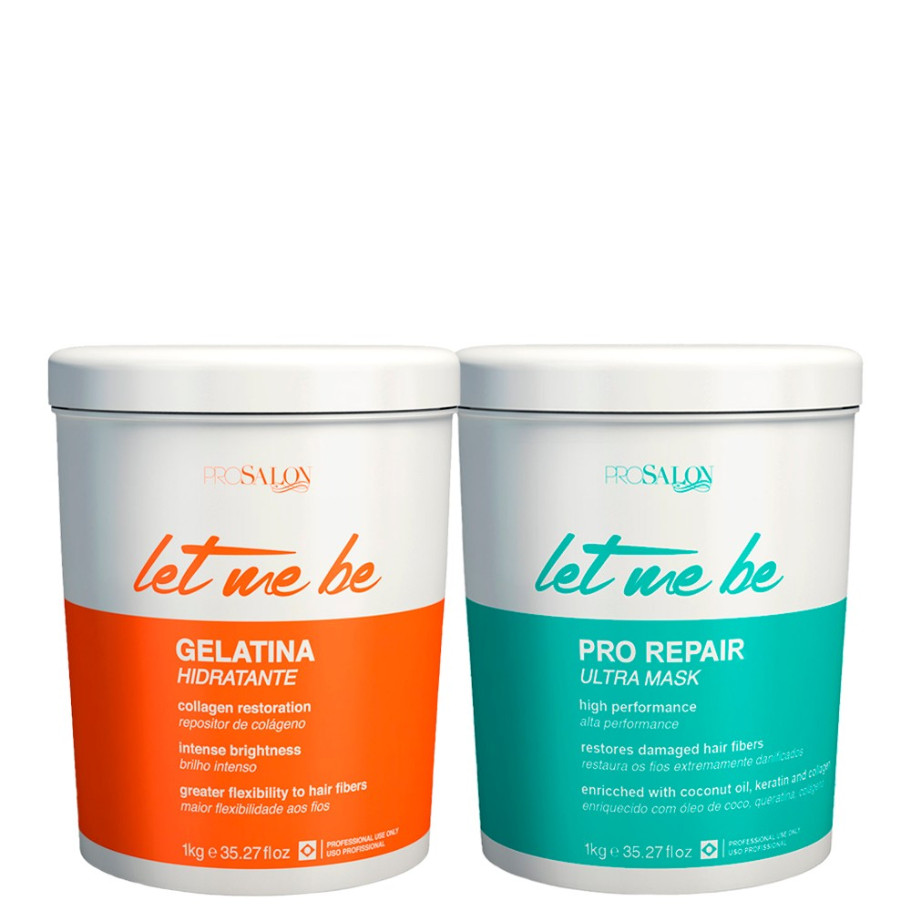 Kit Let Me Be Btox Capilar + Gelatina Hidratante Restauração