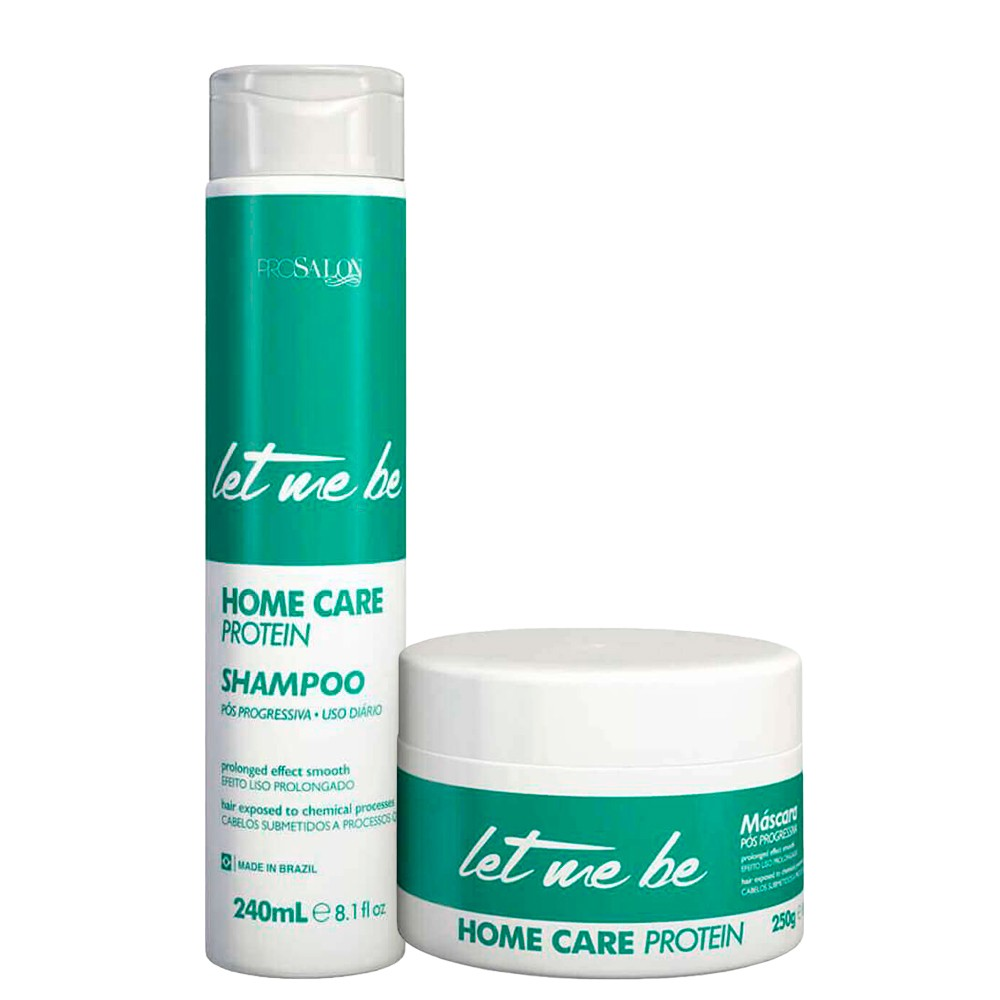 Kit Let Me Be Máscara Hidratação + Shampoo Home Care Protein