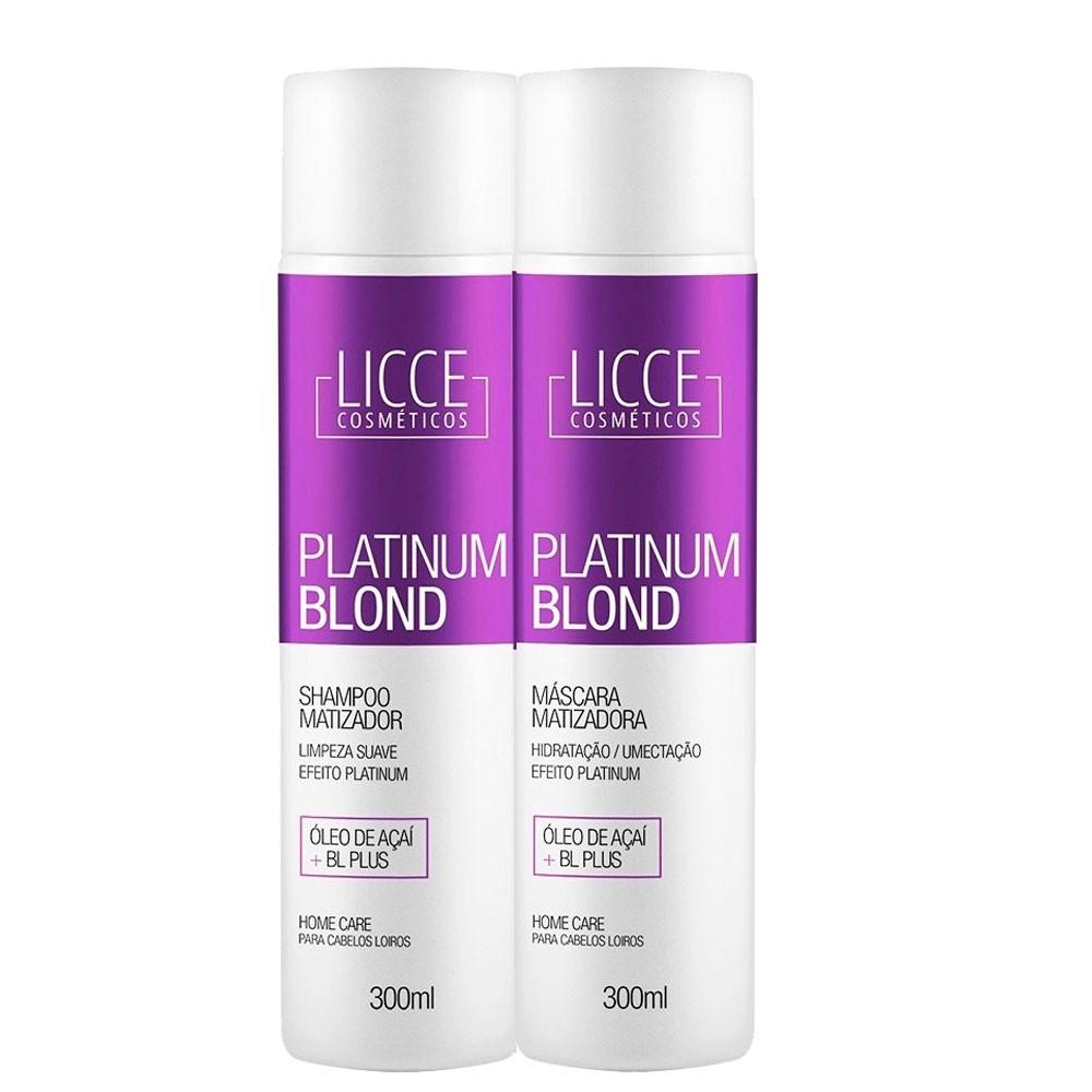 Kit Licce Cosmetics Home Care Platinum Blond 300ml/10.1fl.oz
