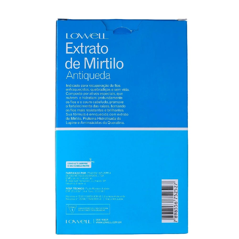 Kit Lowell Extrato Mirtilo Antiqueda Shampoo +Tônico Capilar
