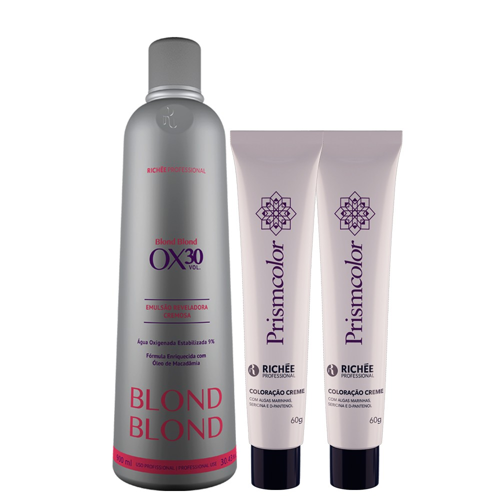 Kit Richée Blond Ox. 30 Vol. 900ml + Colorações 10.89 e 9.89