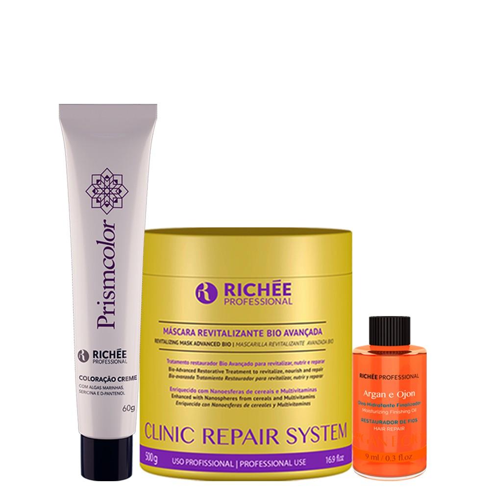 KIT Richée Clinic Repair + Tinta 12.89 + Oleo Argan e Ojon