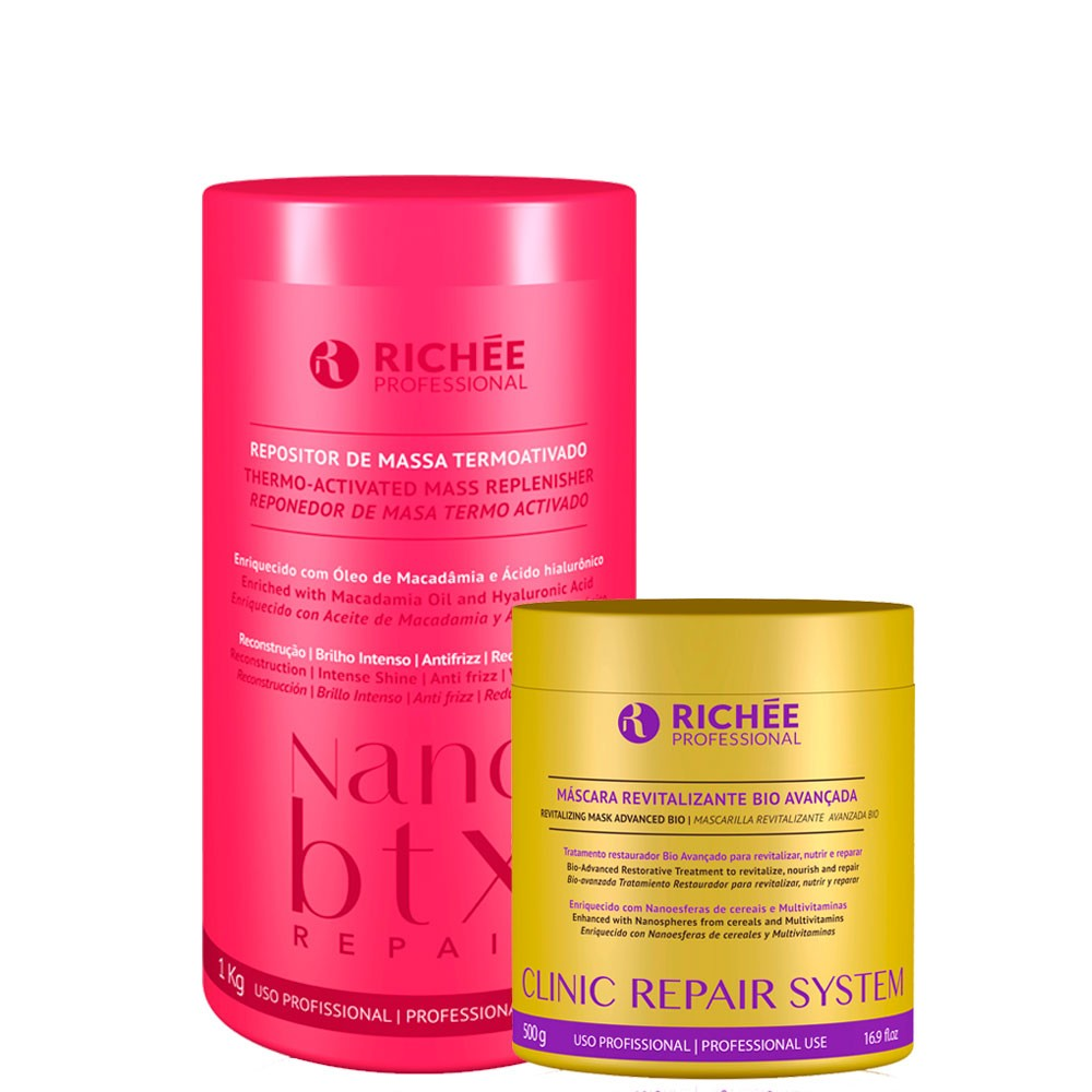 Kit Richée NanoBtx 1kg + Máscara Clinic Repair 500g