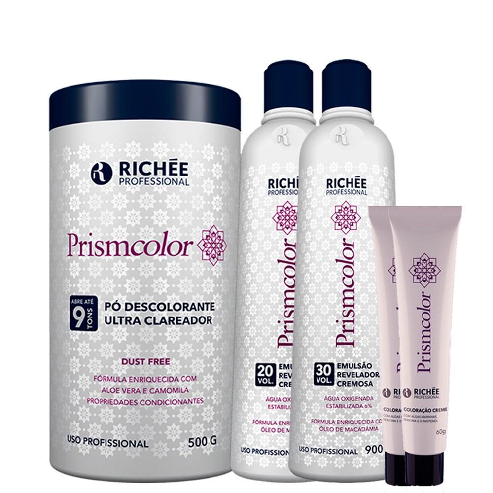 Kit Richée Prismcolor Pó Desc. + Ox 20/30Vol + 2 Col. 9.89
