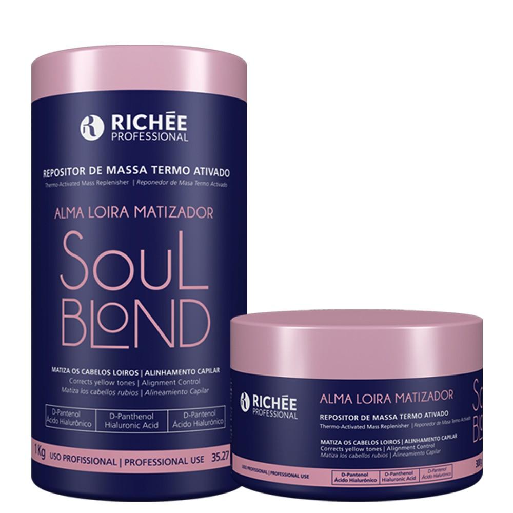 Kit Richée Repositor de massa Soul Blond 1kg+Soul Blond 300g