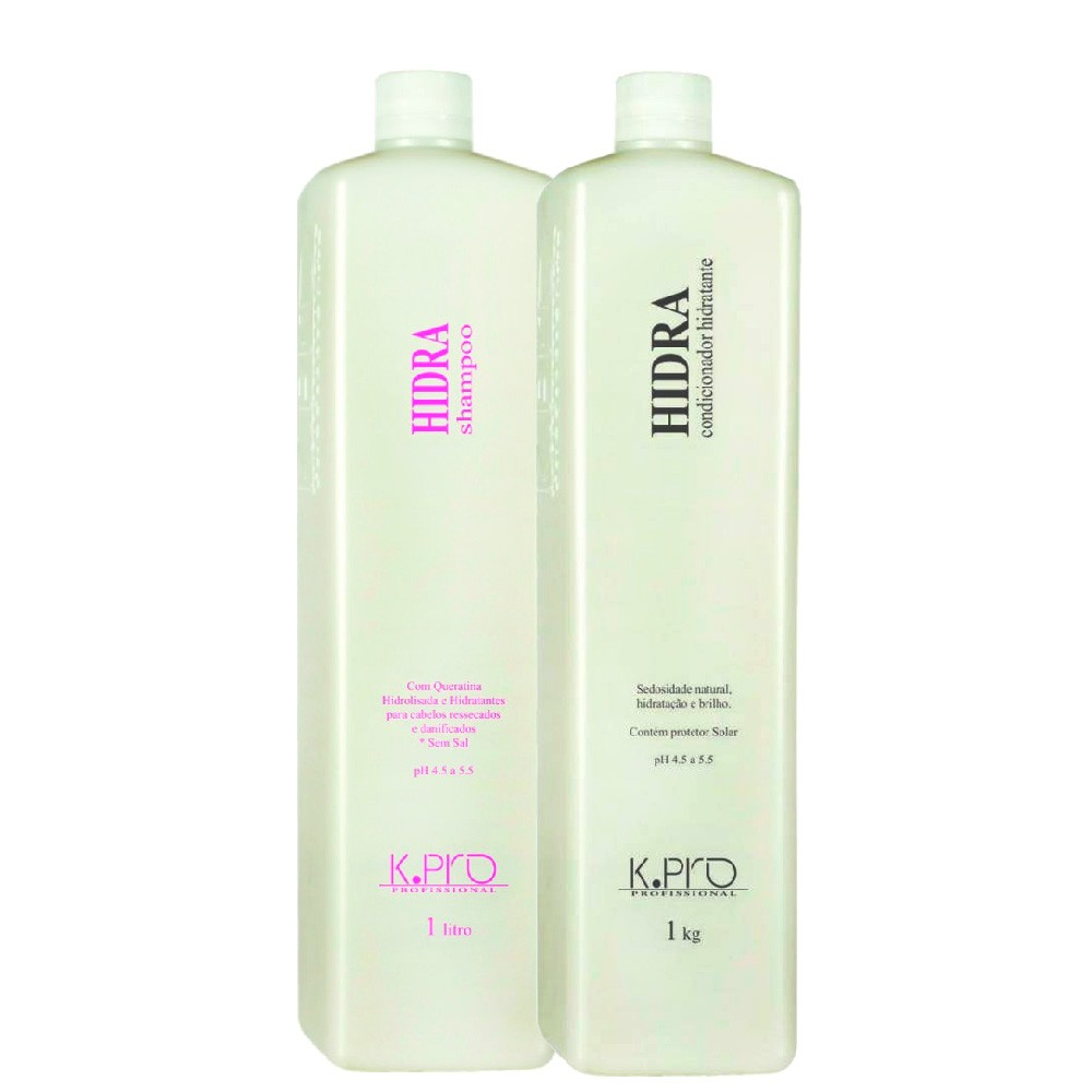 Kit Shampoo e Condicionador Hidratante KPro Hidra Profissional