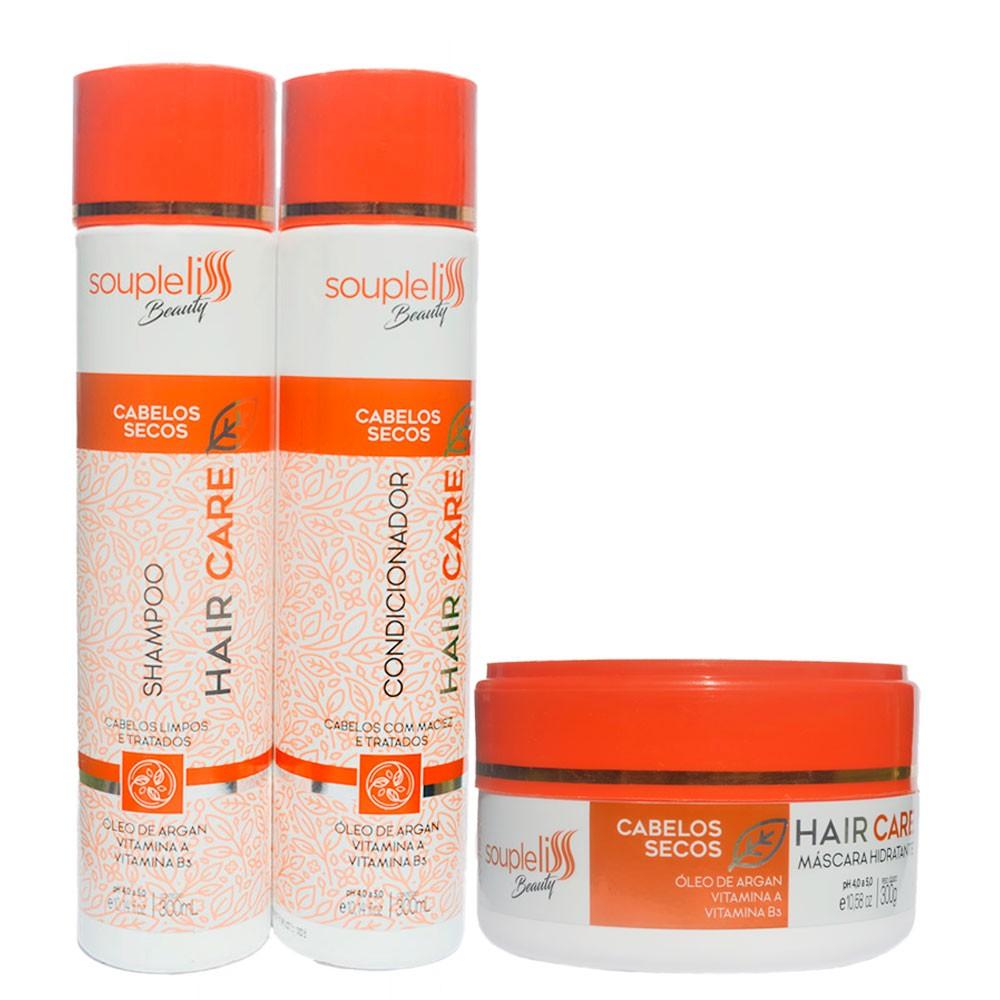 Kit Soupleliss Beauty Hair Care Completo Para Cabelos Secos