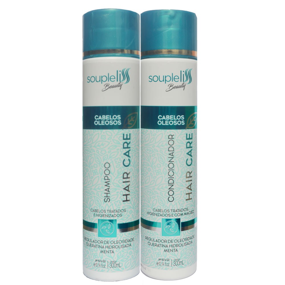 Kit Soupleliss Beauty Hair Care Shampoo + Condicionador  Para Cabelos Oleosos