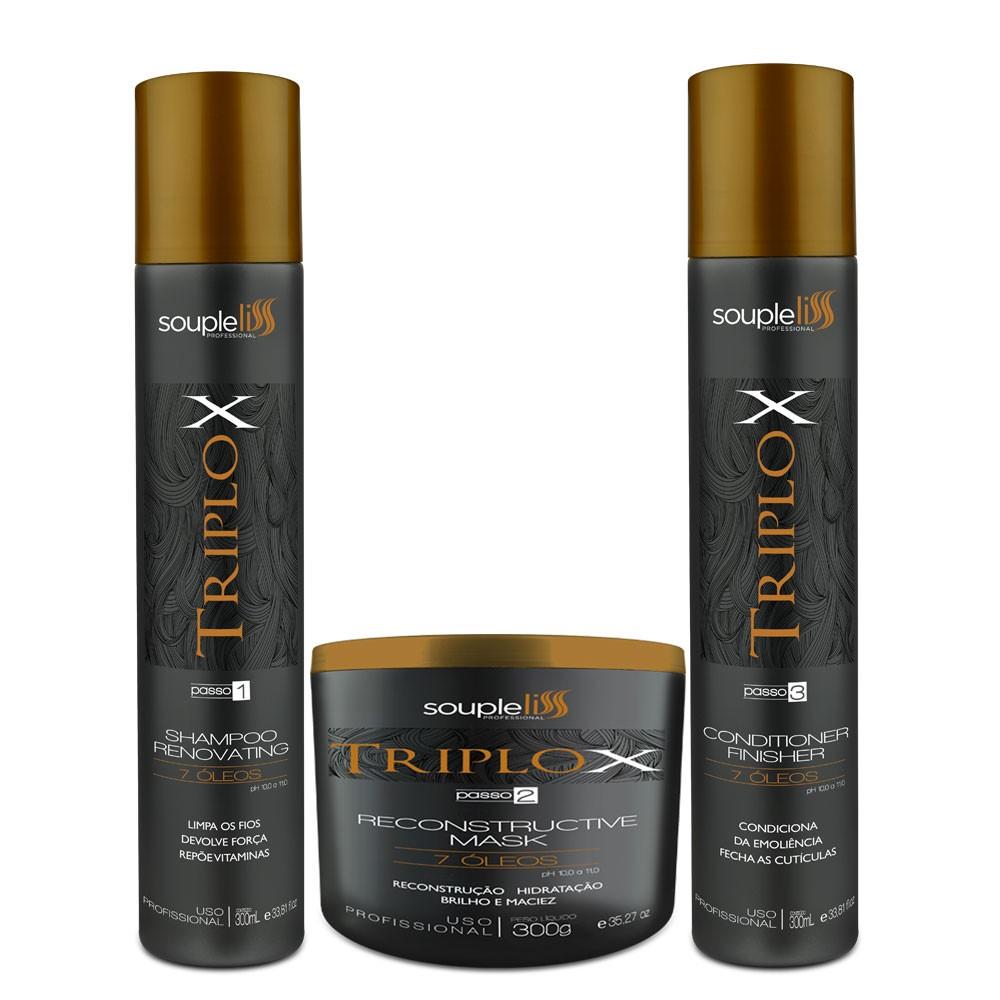 Kit Soupleliss Triplox Reconstrutor Hidratação Completo