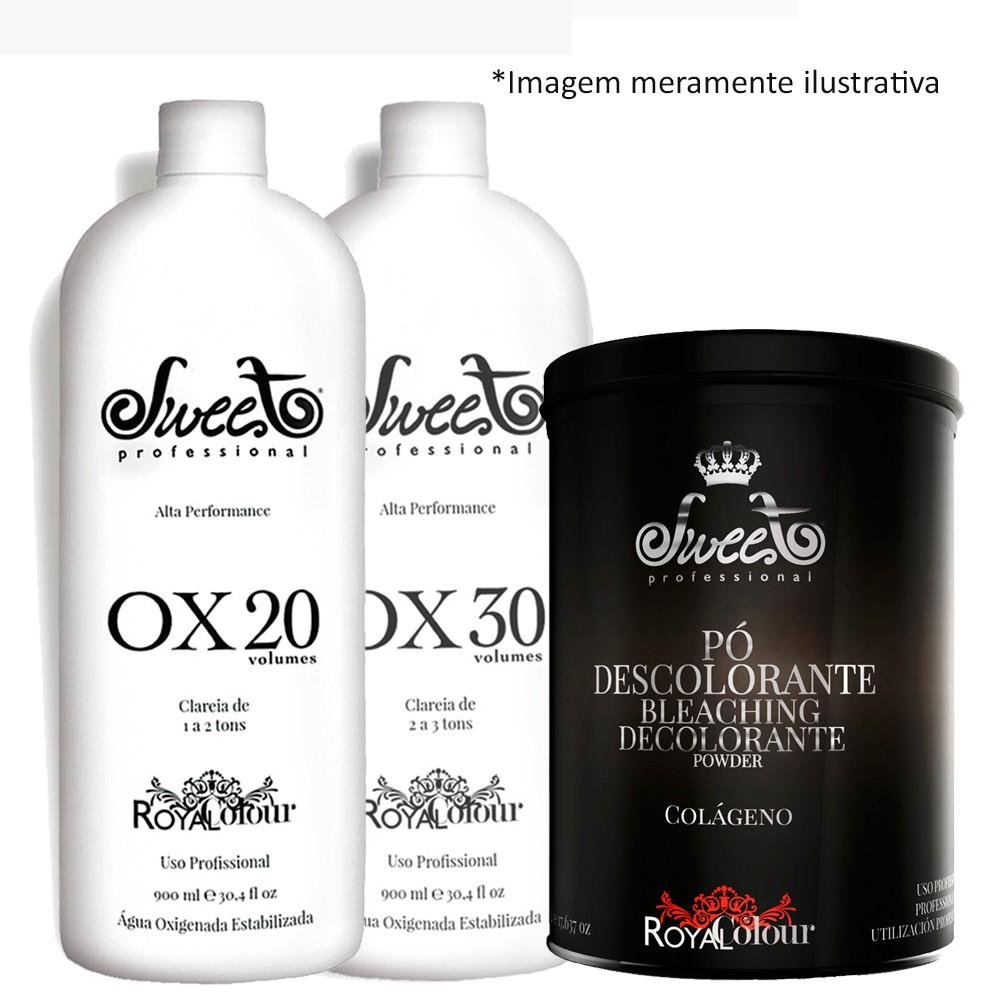 Kit Sweet Hair 3 Pó Descolorante + 2 OX 20 + OX 30