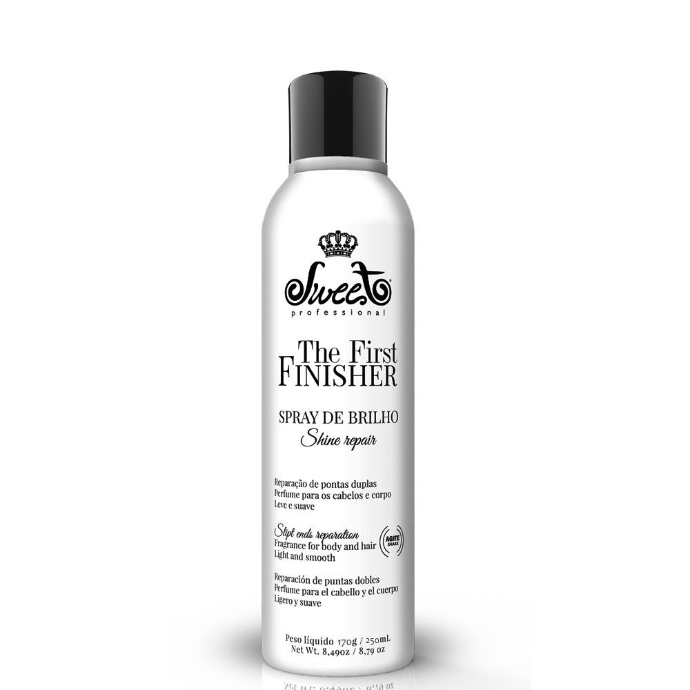 Kit Sweet Hair The First Gloss Reparação + Spray Brilho 8Un