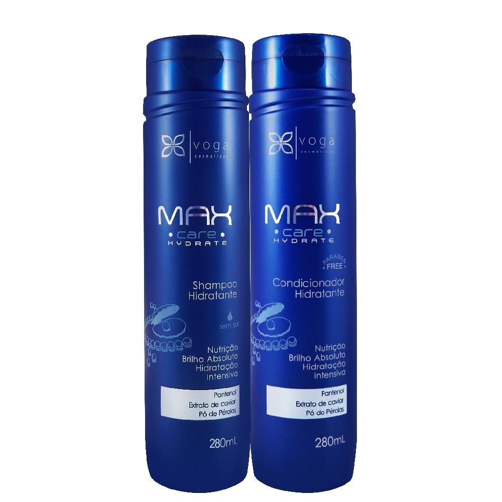 Kit Voga Max C Hydrate Pantenol Shampoo e Condicionador 2Un