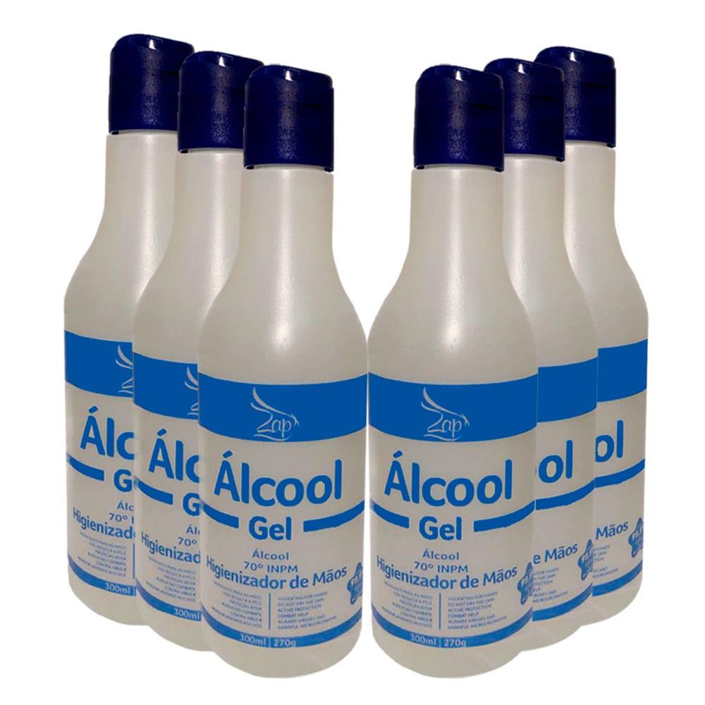 Kit Zap Hidratante Gel para Mãos 6x300ml