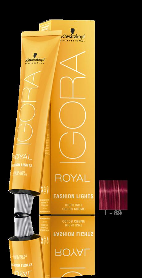 L-89 Vermelho Violeta - Igora Royal Fashion Lights