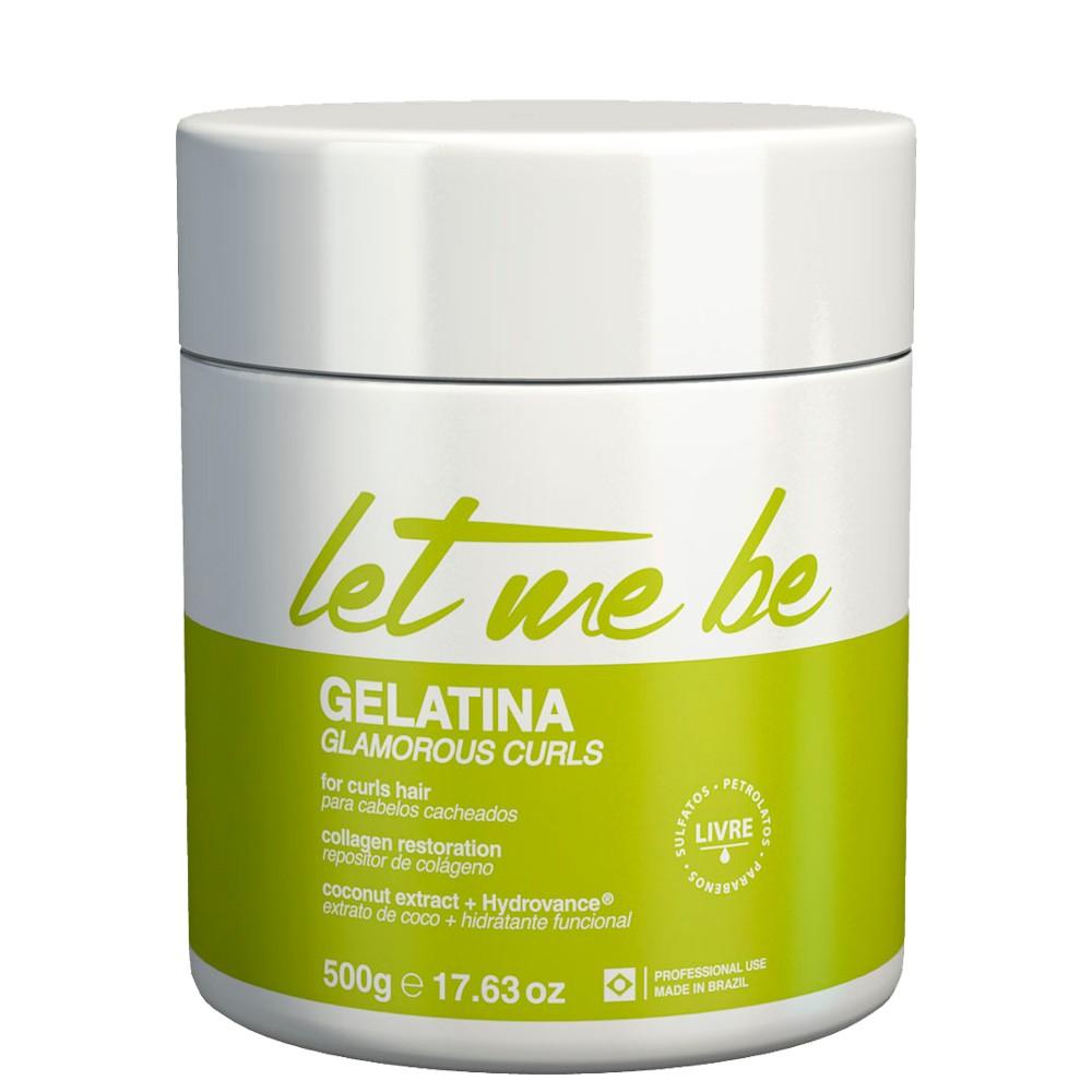 Let Me Be Gelatina Glamorous Curls Cabelos Cacheados 500g